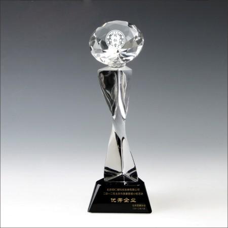 同仁堂集团 水晶奖杯 不锈钢奖牌 实木奖牌 荣誉证书